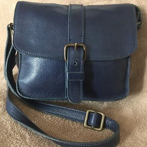 Small Roots Navy Blue Crossbody Bag